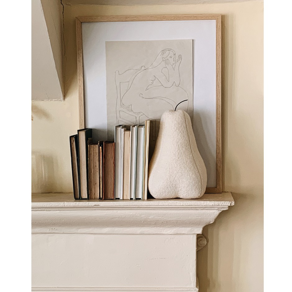 Pear Bookend - Off Whitet